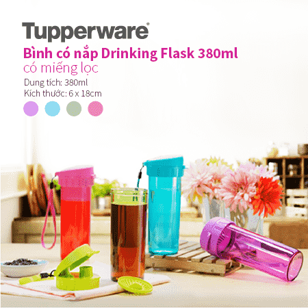 Bình nước Drinking Flask 380ml Tupperware