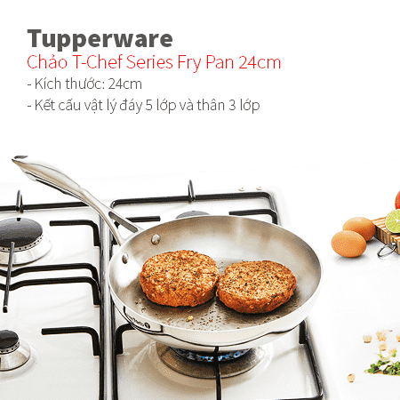 Chảo T-Chef Series Fry Pan 24cm Tupperware