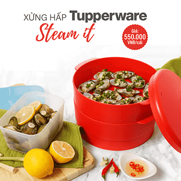 Xửng hấp Tupperware Steam It - Chili