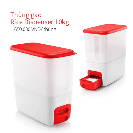 Thùng gạo Tupperware Rice Dispenser 10kg